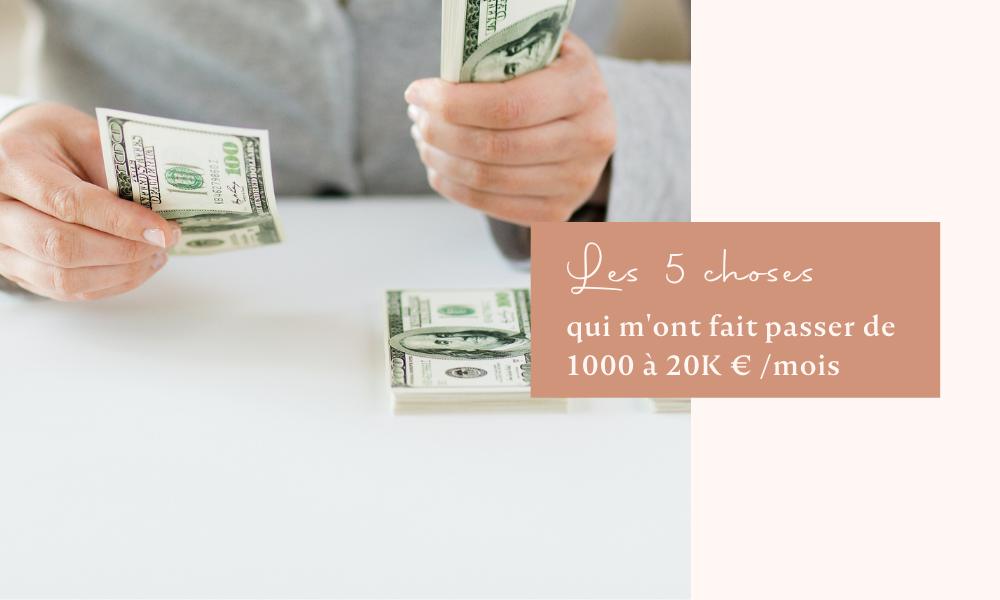 Bazik - Les 5 choses qui m'ont fait passer de 1000 à 20 000 euros par mois de chiffre d'affaires en un an